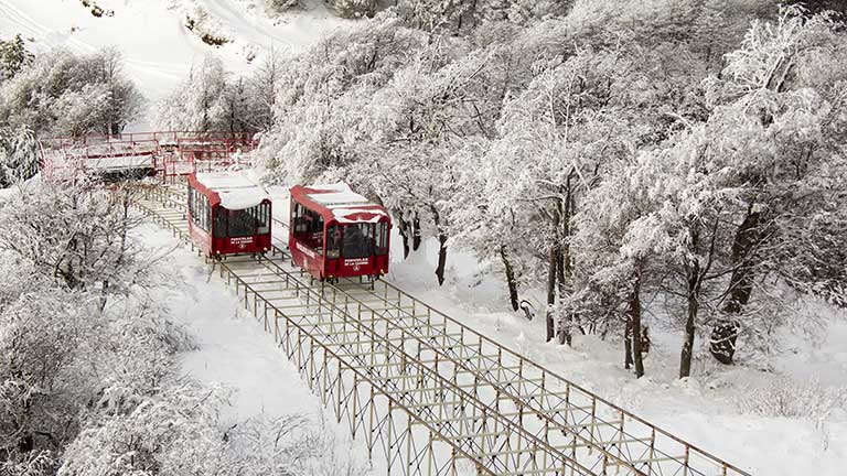 Funicular at the top